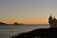 Sunset in in Belém, Lisbon
