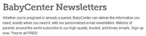 BabyCenter Newsletters