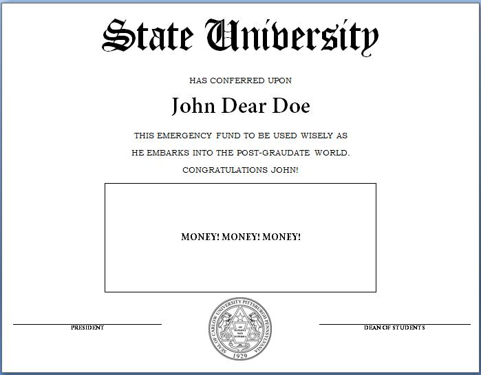 How To Make A Fake Diploma Template And Tutorial Thelittledabbler . Diploma  Word Template  Diploma Word Template