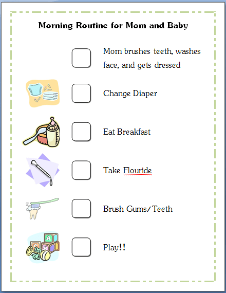 baby routine template - morning routine checklist template images frompo