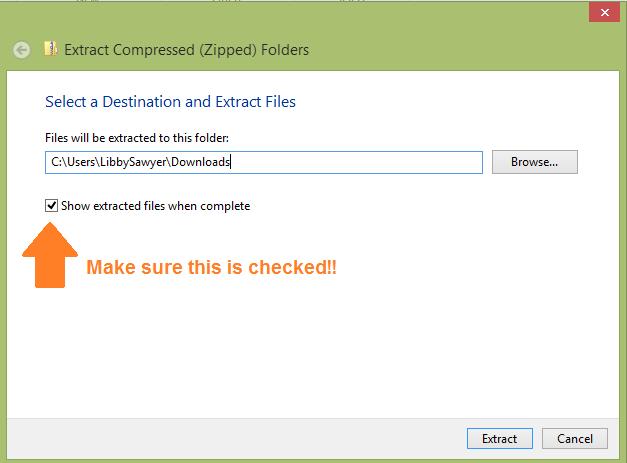 Choose a File Location (4)