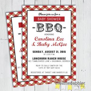 Baby Shower BBQ Invitation from TheLittleDabbler