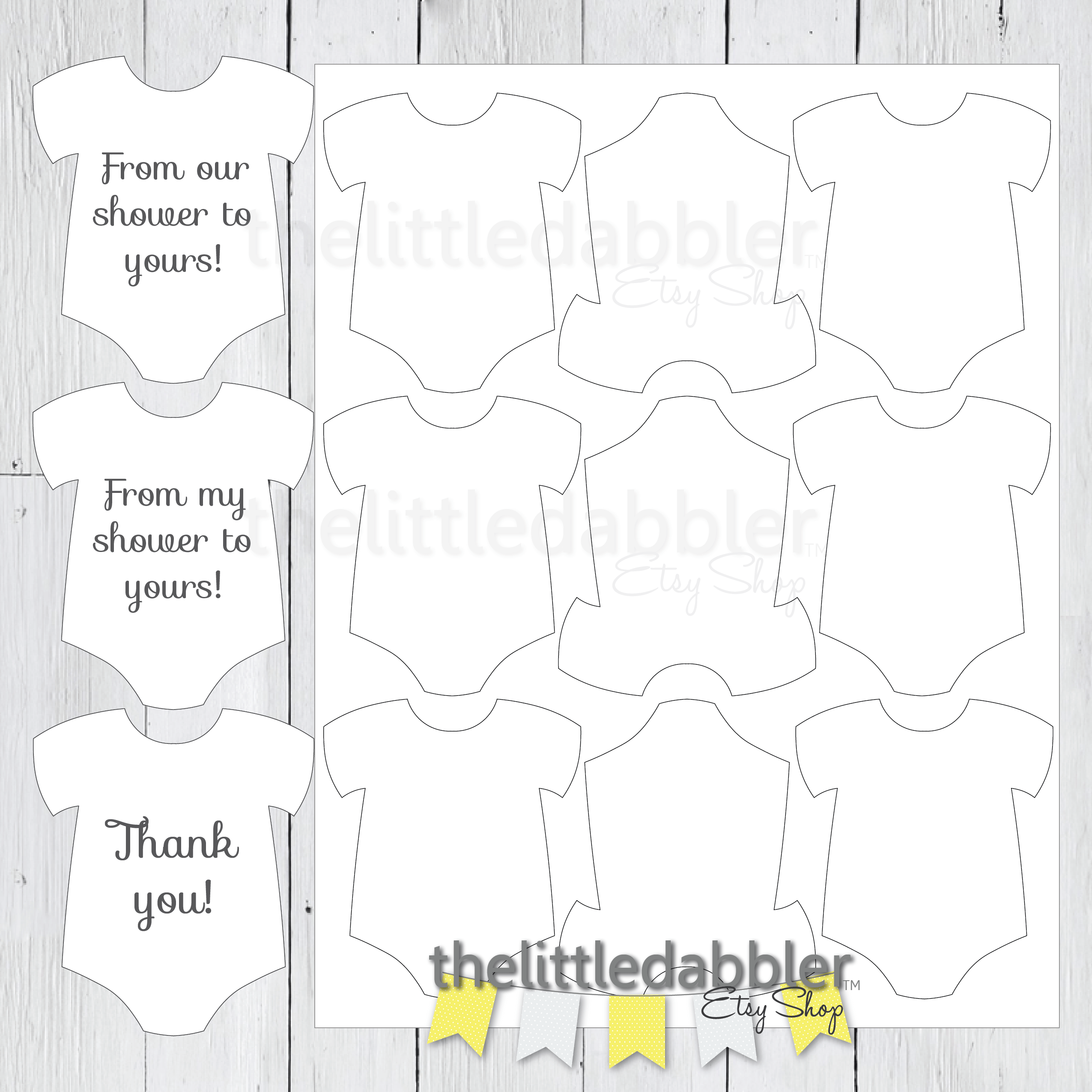 photo relating to Onesie Template Printable titled Child Onesie Templates thelittledabbler