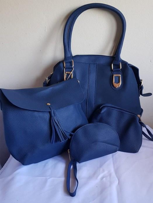 4 Piece Handbag Set Navy - Buy Online
