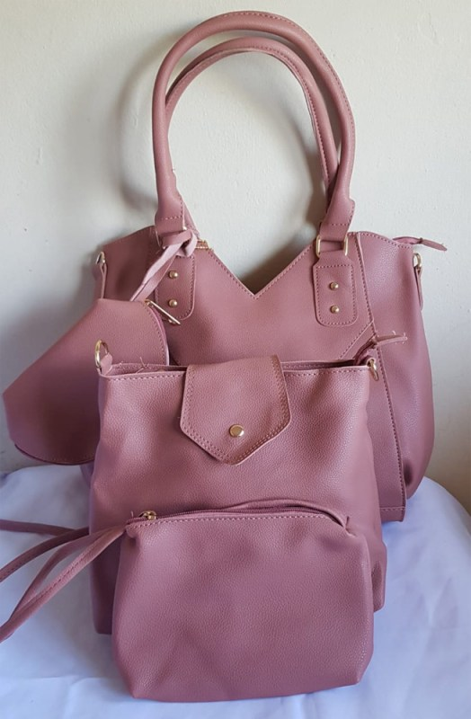4 Piece Handbag Set Light Pink - Buy Online