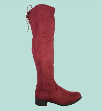 Ladies Long Boots Red Buy Online