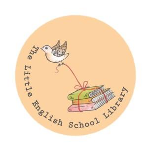 The Little English School Library Logo- grey font