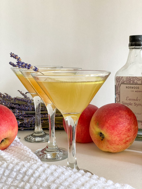 Apple lavender martini