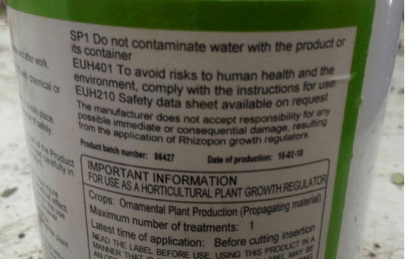 Chemicals used in plant propagation