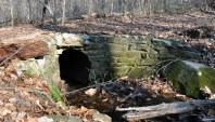 Old stone culvert on the 4.25 mile hiking trail