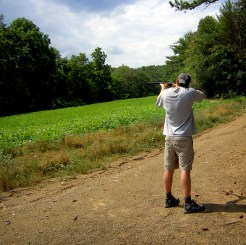 Matt trap shooting (2008 photo)