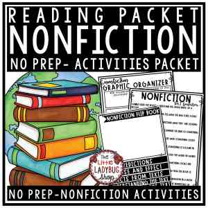 Nonfiction Graphic Organizers Informational Text Features- Nonfiction Unit