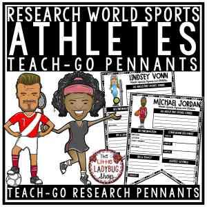 Famous Athletes Research Templates Teach- Go Pennants™