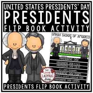 United States Presidents' Day Writing Flip Book - US Presidents' Day Activities