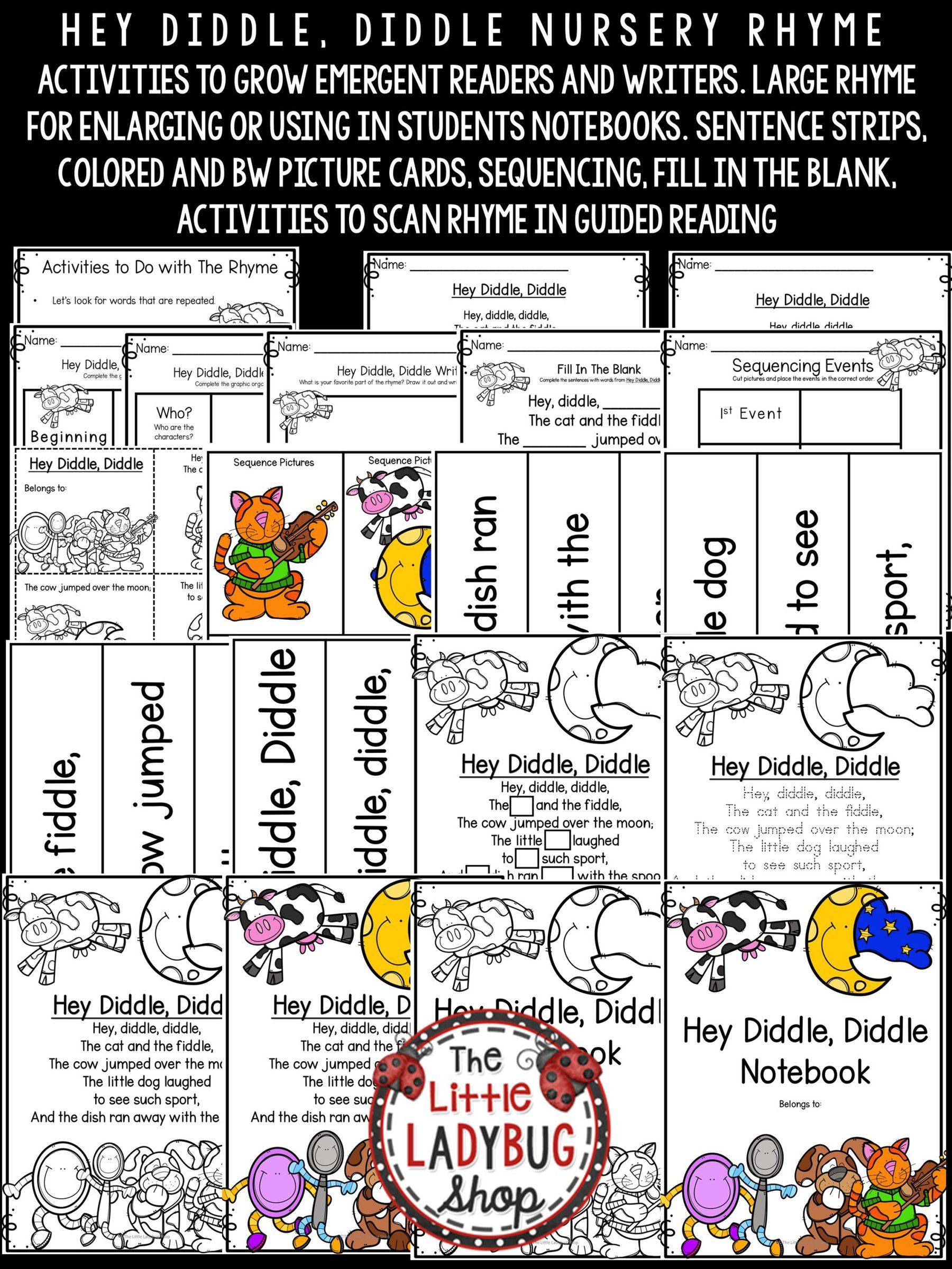 Hey Diddle Diddle Nursery Rhyme For Kindergarten Nursery