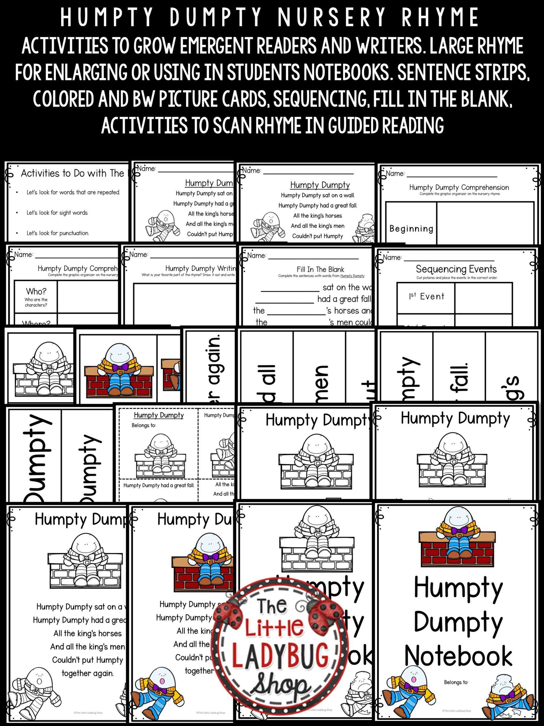 Humpty Dumpty Nursery Rhyme For Kindergarten Nursery