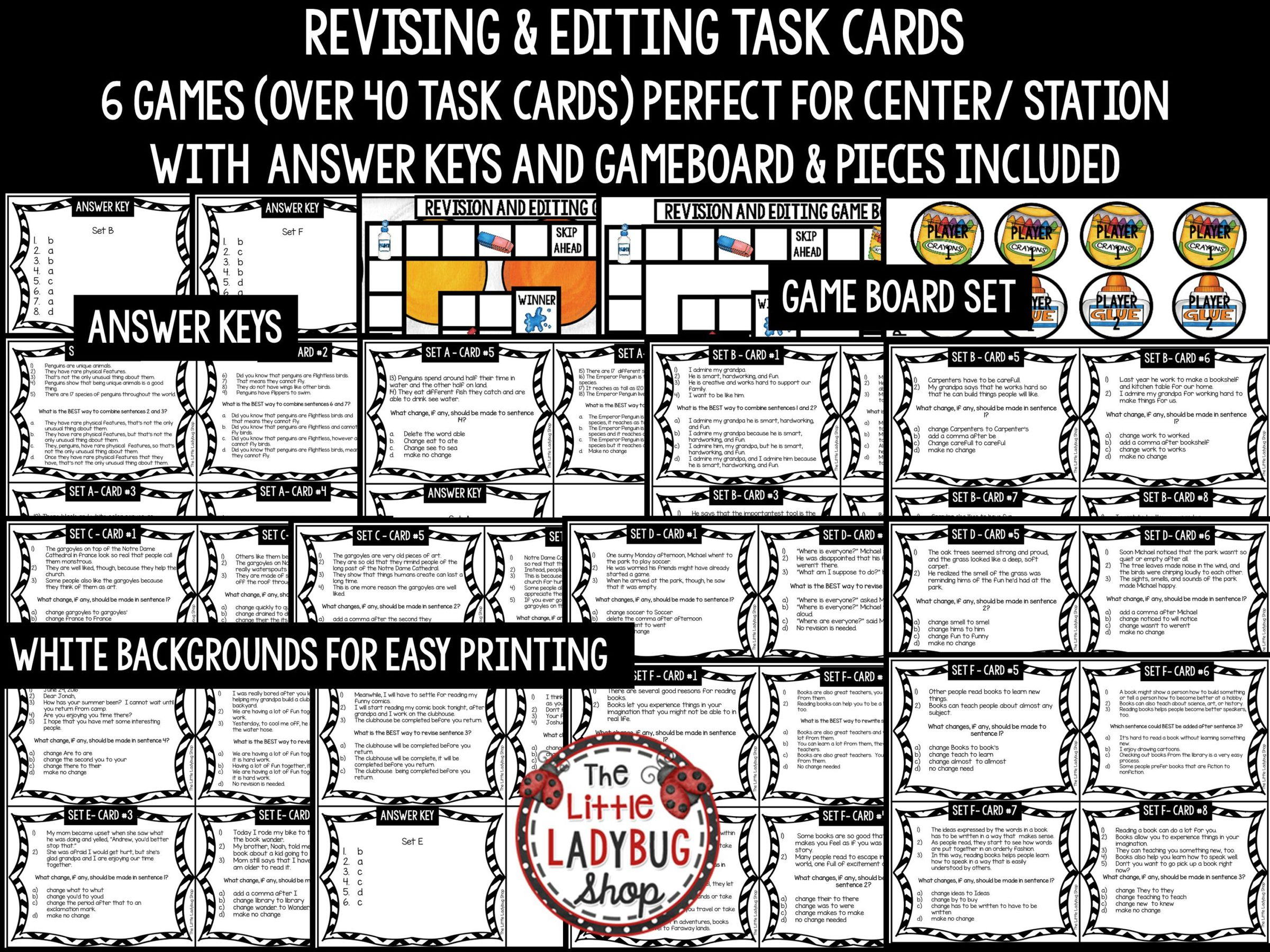 Revise Amp Edit Task Card Writing Test Prep Ela Revising
