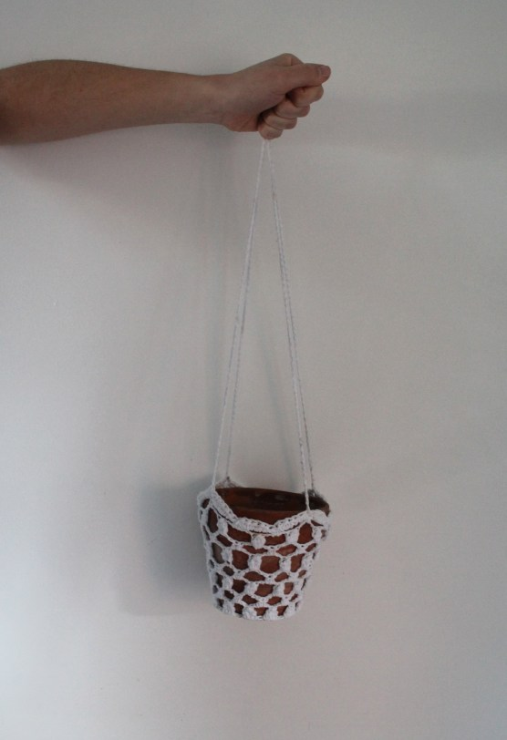 £6.00 for crochet hanger and plant pot