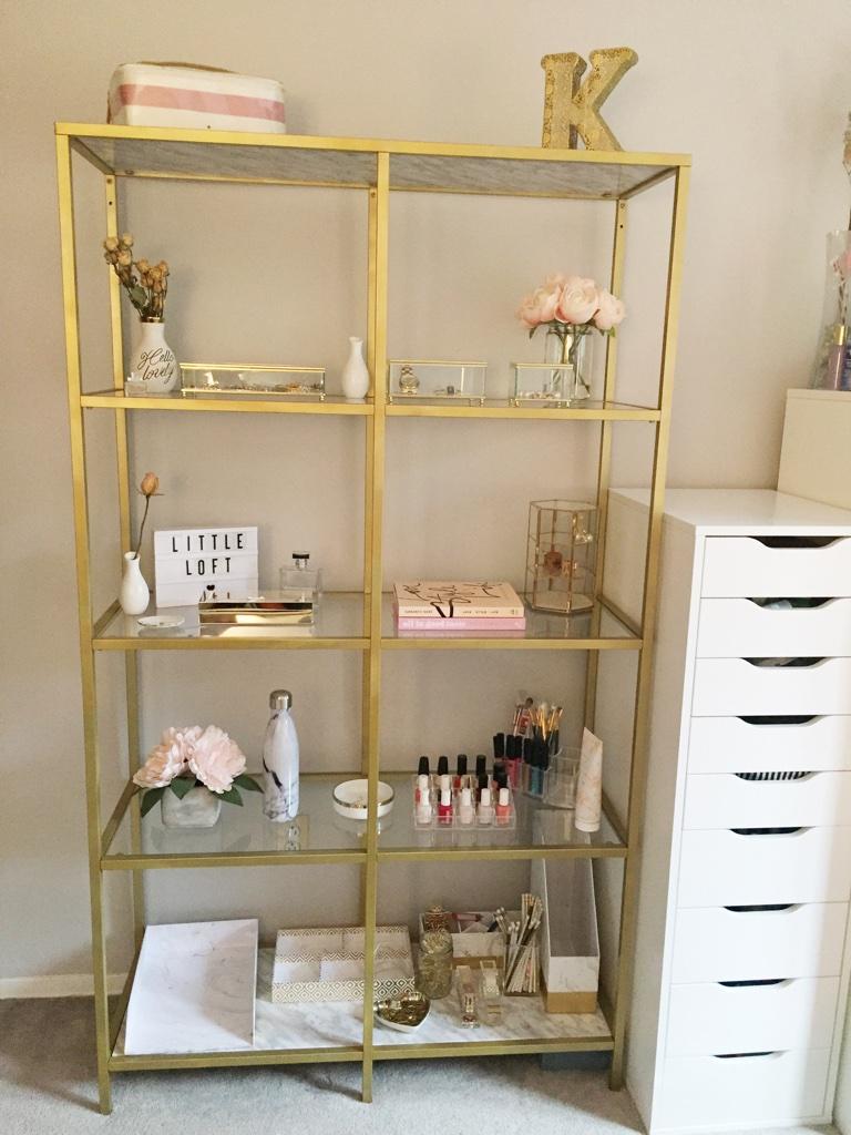 Ikea Gold Bookshelf