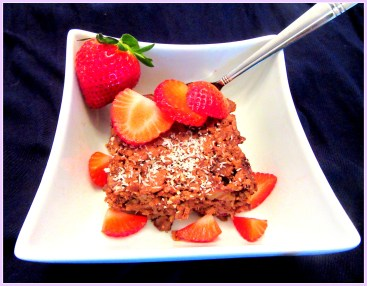 Chocolate Banana Coconut Oat Bake