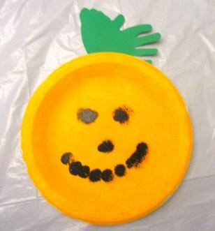 Halloween Pumpkin Craft Finished