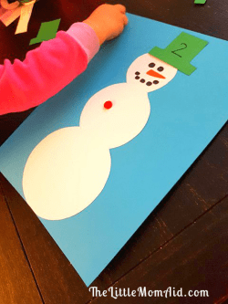 Snowman Math Counting Activity