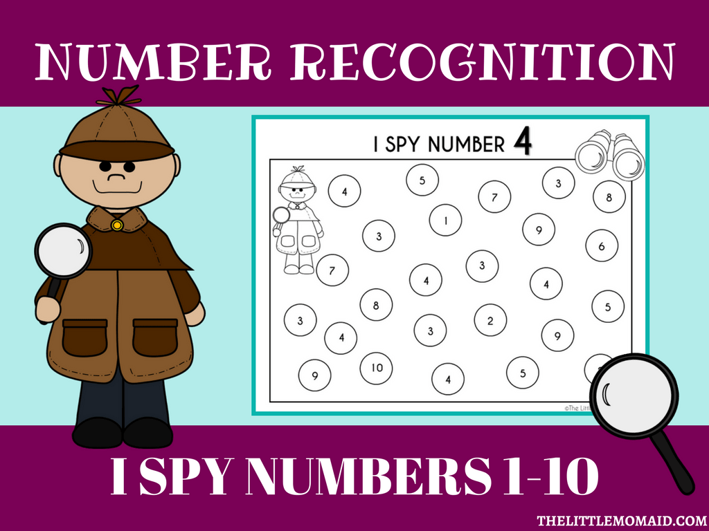 Freebie I Spy Number 1 10 Worksheets