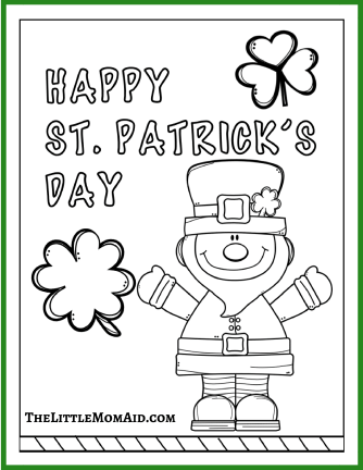 St Patrick's Day Coloring Pages 1