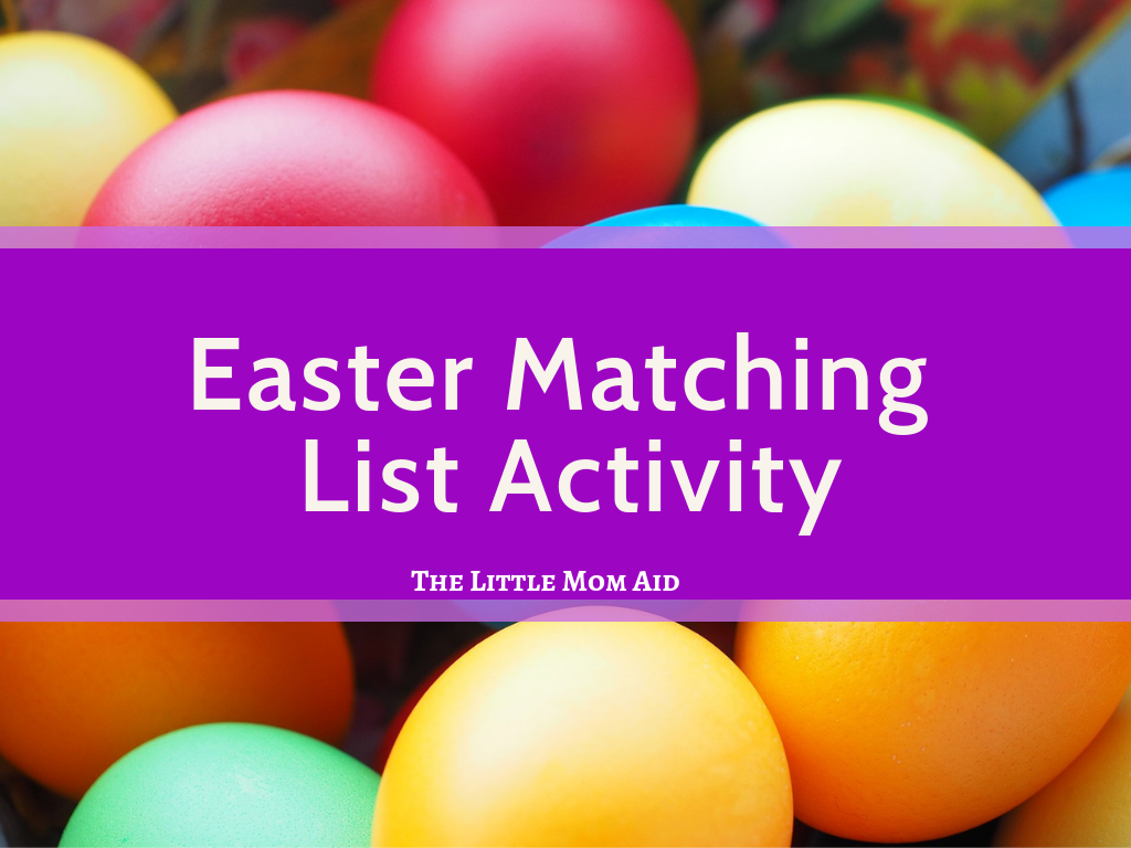 Easter Worksheet Easter Matching List Activity Easter