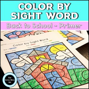 Back ti School Color by Sight Word