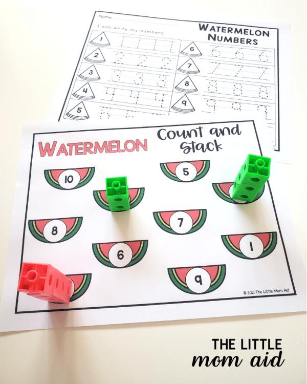 watermelon-counting-centers-preschool-kindergarten