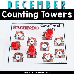 These December Counting Towers are a fun and interactive way for preschool and kindergarten students to practice number recognition, counting and 1:1 correspondence.
