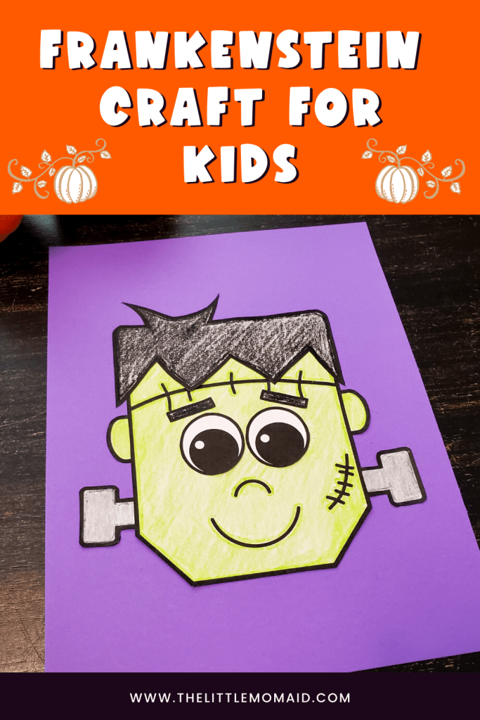 A frankenstein craft for kids that is fun and simple to do.  This is a perfect Halloween craft for kids
