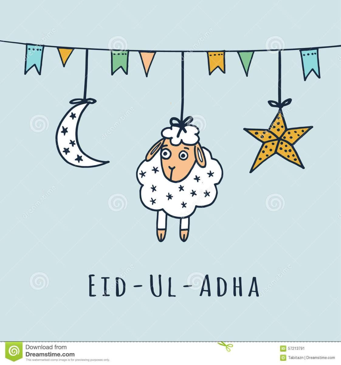 Eid Al Adha Card The Little Muslims