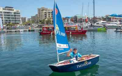 South African shark-attack survivor sails to victory