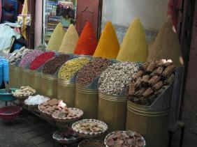 Medina Spice Stand: Nature's Color Palette