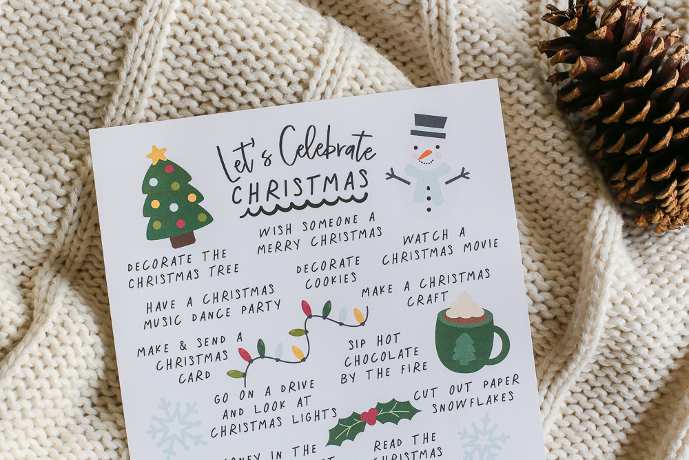 Enjoy the season and create memories with this FREE printable Christmas Family Activity List!