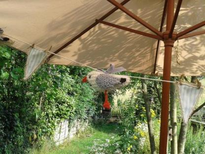 Knitted Seagull bunting - blue