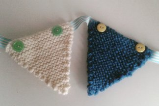 beginner's learn knitting kit - knitted bunting