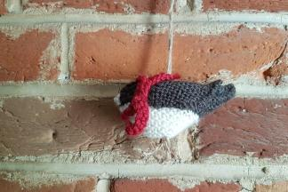 Knitted Winter Bird Decoration