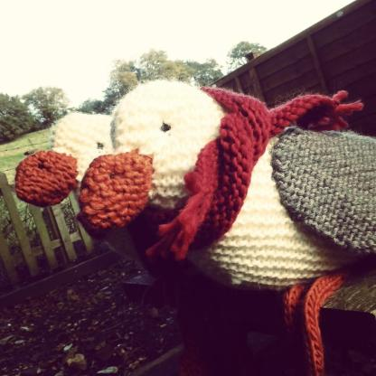 Knitted Toy Seagull