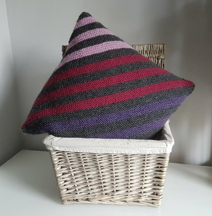 Striped Afghan Cushion