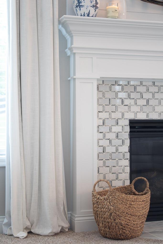 tiled fireplace makeover