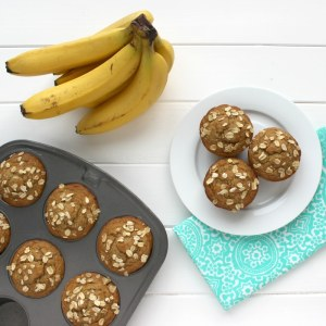 Healthy Banana Nut Muffins