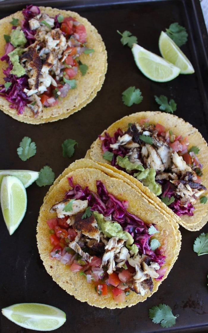 Healthy Skinny Fish Tacos
