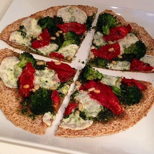 Homemade Skinny Pizza