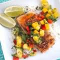 Blackened Mahi Mahi with Pineapple Mango Salsa
