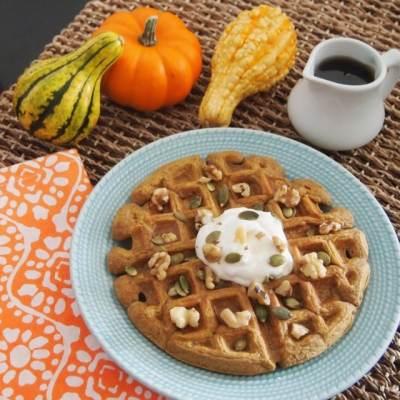 Pumpkin Spice Waffles!
