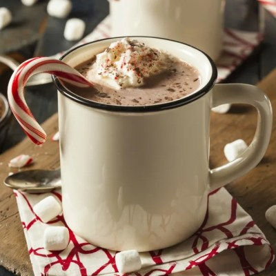 Skinny Peppermint Hot Cocoa!! ♡