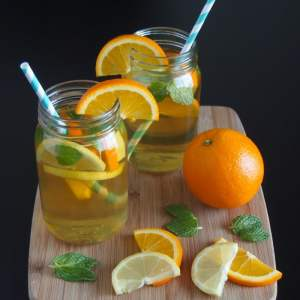 Thirsty Thursday! ~ Citrus Mint Infused Green Tea